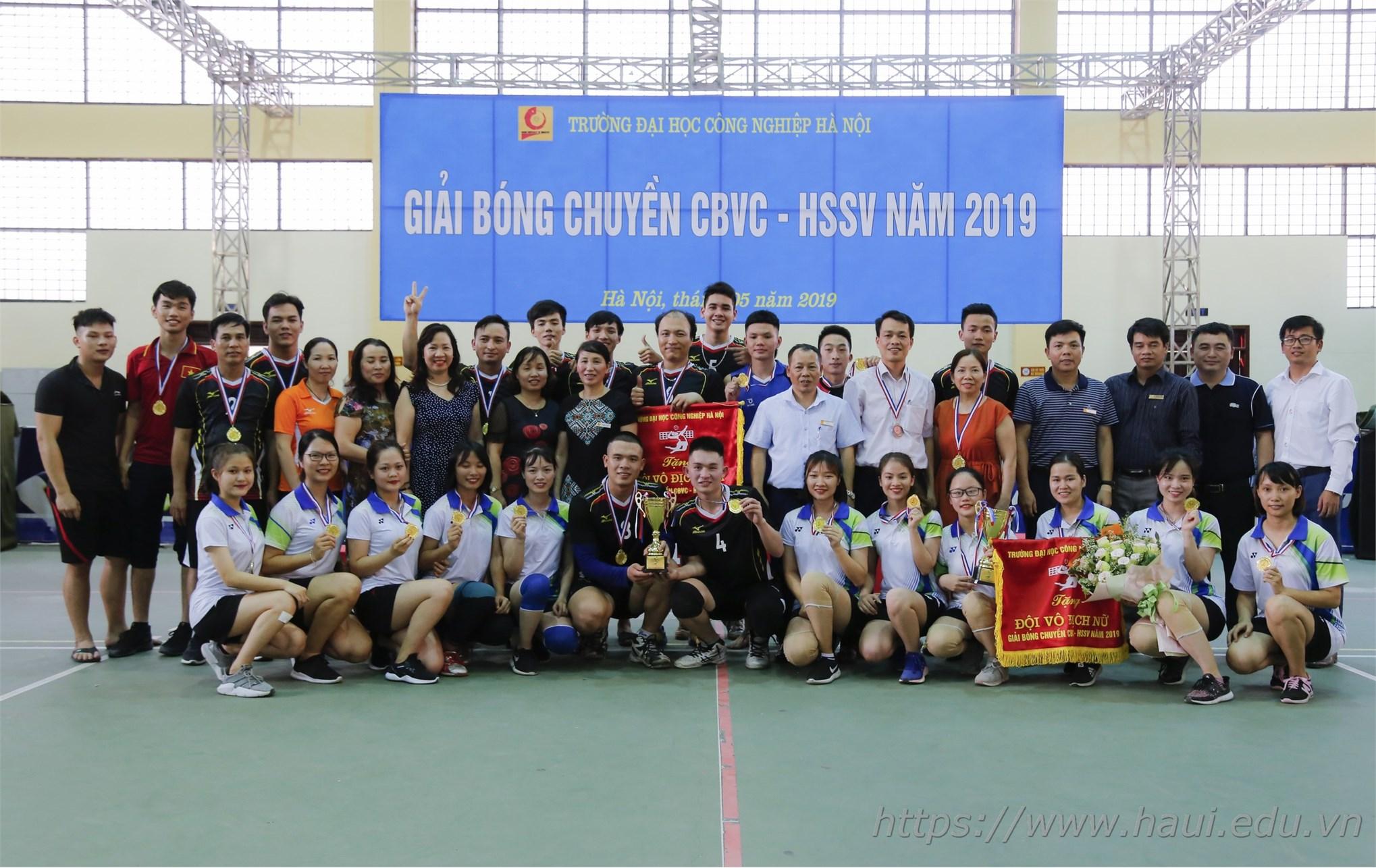 Liên quân bóng chuyền nam Khoa Điện tử Vô địch mùa giải bóng chuyền CBGV-HSSV năm 2019