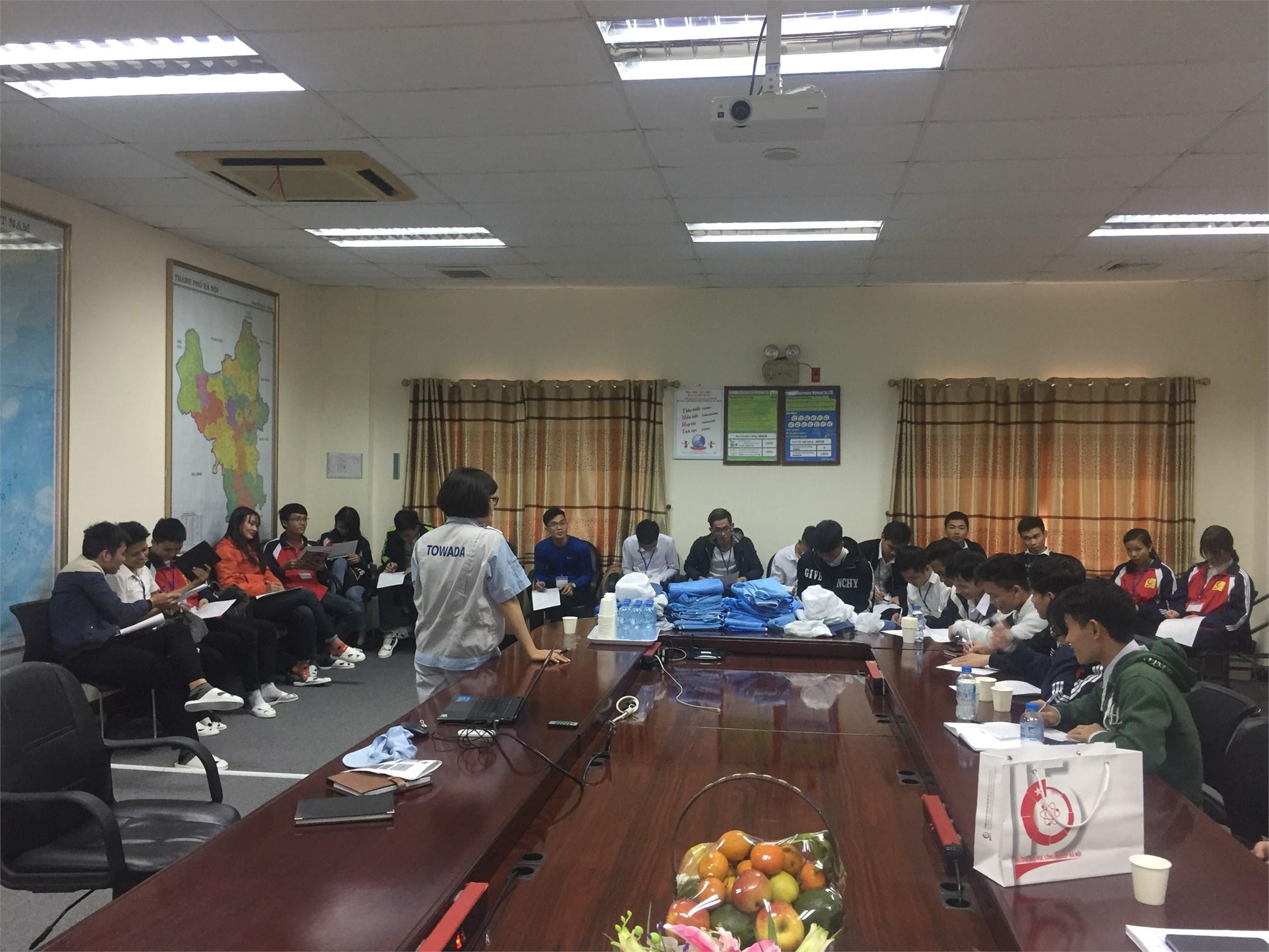 Kế hoạch tiếp nhận SV Đại học K11 thực tập tốt nghiệp tại Công ty TNHH Điện tử Towada Việt Nam