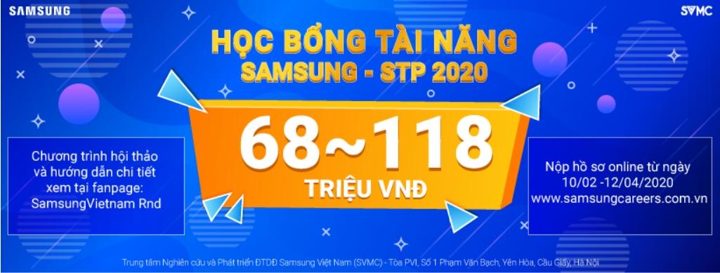 Chương trình Học bổng tài năng Samsung (Samsung Talent program - STP) năm 2020.