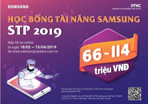 HỌC BỔNG TÀI NĂNG SAMSUNG - STP 2019