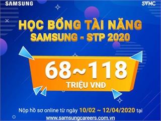 HỌC BỔNG TÀI NĂNG SAMSUNG - STP 2020