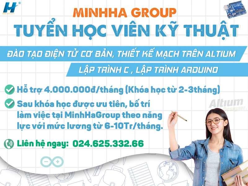 """Minhhagoup tuyển sinh """"học viên kỹ thuật 2019"""""""