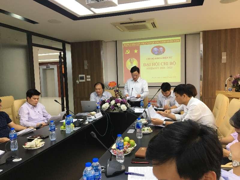 Đại hội Chi bộ Điện tử nhiệm kỳ 2020 - 2023 Đảng bộ Trường Đại học công nghiệp Hà Nội