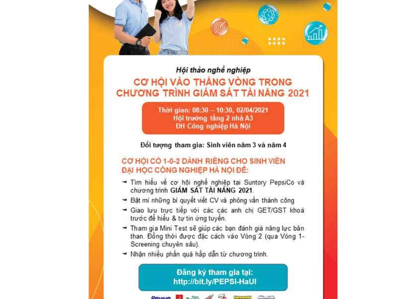 Hội thảo cơ hội việc làm của Công ty TNHH Suntory Pepsico Việt Nam