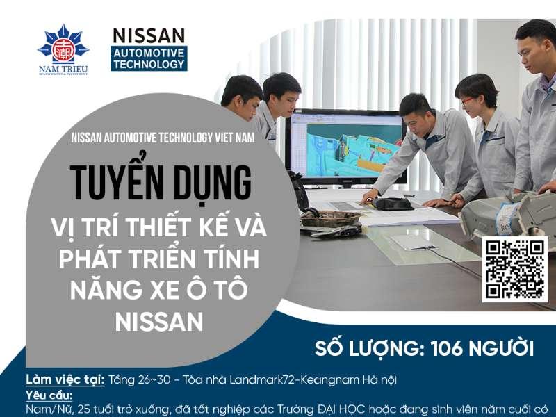Tuyển sinh lớp đào tạo Kỹ sư Thiết kế và phát triển tính năng xe Ô tô NISSAN